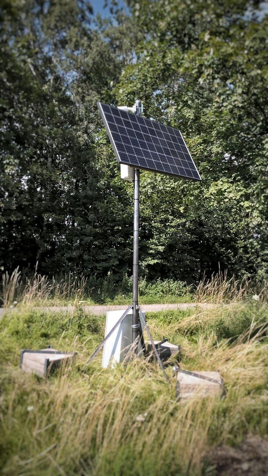 Ostrovní fotovoltaický systém pro kamerový dohled